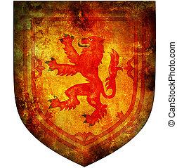 emblema, nazionale, scozia