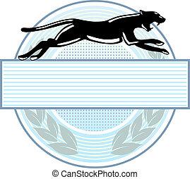 emblema, pantera