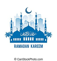 emblema, ramadan, kareem