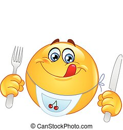 emoticon, affamato