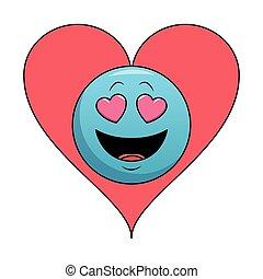emoticon, amore, bolla