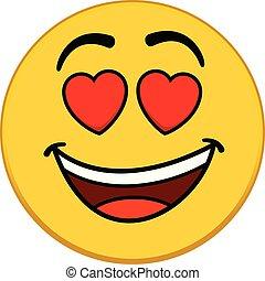 emoticon, amore