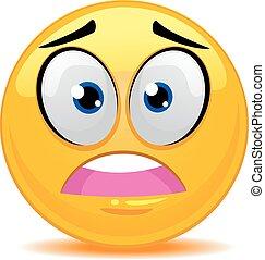 emoticon, arrabbiato, smiley fronteggiano