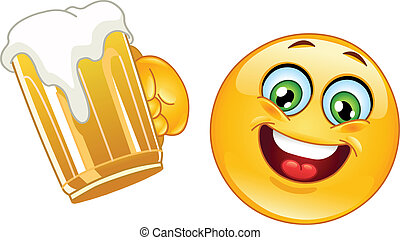 emoticon, birra