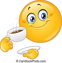 emoticon, caffè