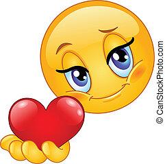 emoticon, dare, cuore