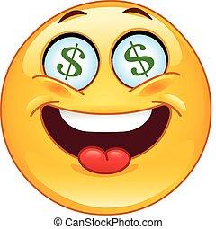 emoticon, dollaro