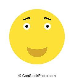 emoticon, felice, smiley fronteggiano