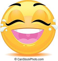 emoticon, gioia, pianto, smiley fronteggiano