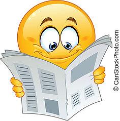 emoticon, giornale