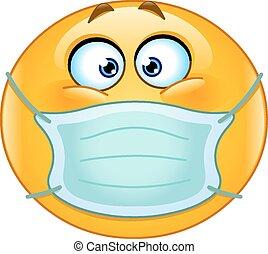 emoticon, medico, maschera