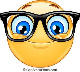 emoticon, occhiali