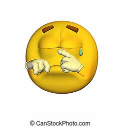 emoticon, pianto
