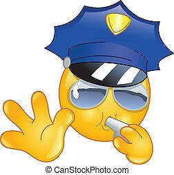 emoticon, poliziotto