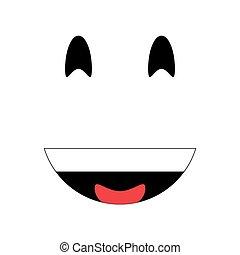 emoticon, ridere, icona