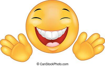emoticon, smiley, cartone animato, felice