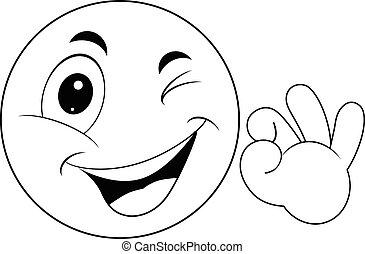 emoticon, smiley, segno giusto