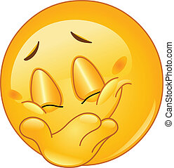 emoticon, sorriso, bastonatura