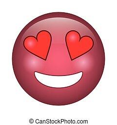 emoticon, stile, amore, icona