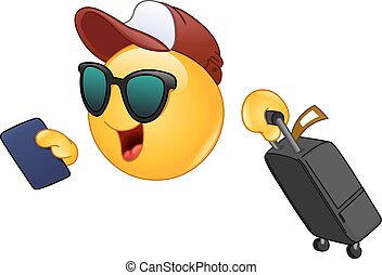 emoticon, viaggiatore, aria