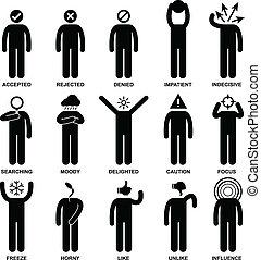 emozione, azione, sentimento, persone equipaggiano