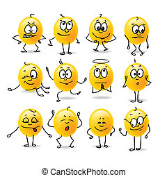 emozioni, vettore, smiley