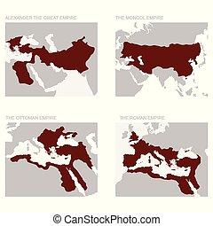empires, mappa, antico