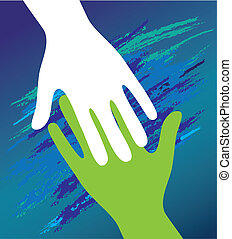 encouragement., sostegno, padre, mano, bambino, moral.