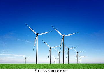 energia, globale, vento