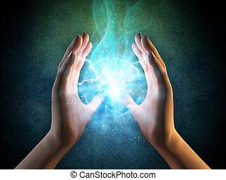 energia, mani
