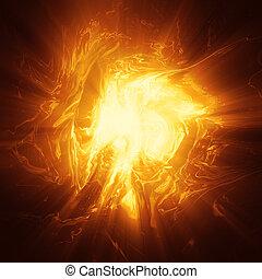 energia, plasma, oragne, fondo