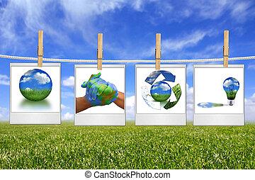 energia, soluzione, corda, verde, appendere, immagini