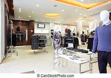 enorme, deposito vestiti, collezione, europeo