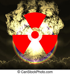 enorme, esplosione, nucleare