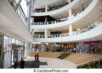 entrata, commerciale, centro