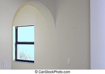 entrata, finestra, arched