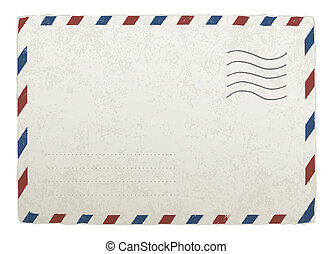 envelope., 10., vendemmia, progetta, eps, vettore, sagoma, spedizione, tuo