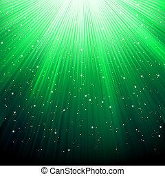 eps, fondo., verde, stelle, 8, strisce