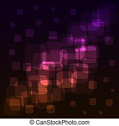 eps10, colorito, luci, astratto, fondo., arrotondato, squadre, file.