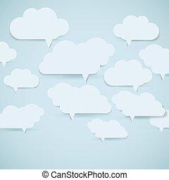 eps10, fondo., astratto, illustrazione, bubbles., vettore, discorso, nuvola