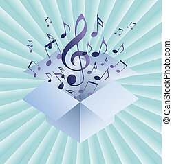 eps10, note, astratto, musica, fondo, musicale