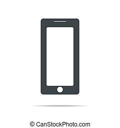 eps10, schermo, bianco, vuoto, realistico, isolato, mobile, fondo., telefono, vettore, illustrazione