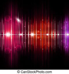 equalizzatore, astratto, musica, fondo