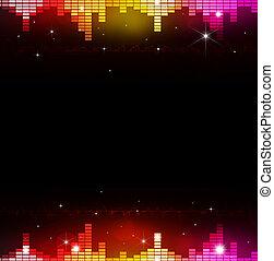 equalizzatore, astratto, musica, multicolor