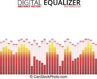 equalizzatore, grafico, fondo