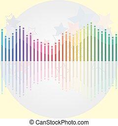 equalizzatore, luce, moderno, grigio, many-colored, fondo