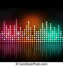 equalizzatore, multicolor, musica
