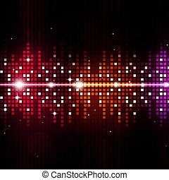 equalizzatore, multicolor, musica, fondo