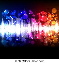 equalizzatore, musica, onda