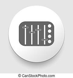 equalizzatore, vettore, manopola, slider, potentiometer